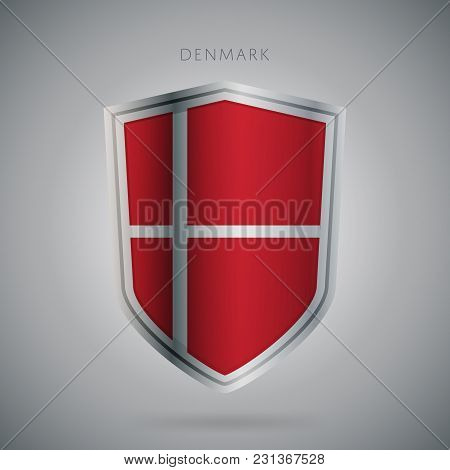 Flags Europe Vector Icon. Denmark Flag, Isolated. Modern Design. National Country Flag. Country Of M