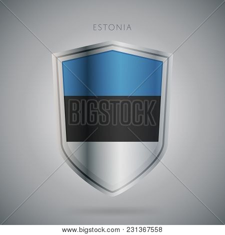 Flags Europe Vector Icon. Estonia Flag, Isolated. Modern Design. National Country Flag. Country Of M