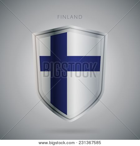 Flags Europe Vector Icon. Finland Flag, Isolated. Modern Design. National Country Flag. Country Of M