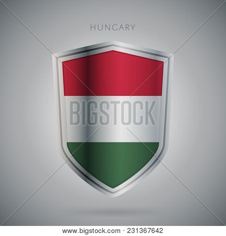 Flags Europe Vector Icon. Hungary Flag, Isolated. Modern Design. National Country Flag. Country Of M
