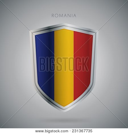 Flags Europe Vector Icon. Romania Flag, Isolated. Modern Design. National Country Flag. Country Of M