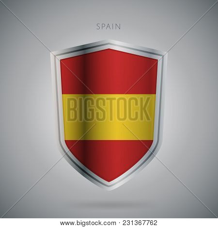 Flags Europe Vector Icon. Spain Flag, Isolated. Modern Design. National Country Flag. Country Of Mem