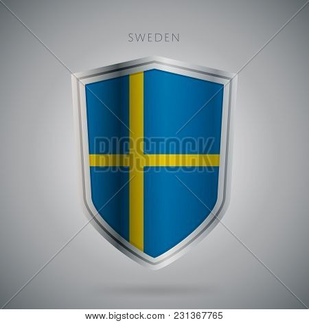 Flags Europe Vector Icon. Sweden Flag, Isolated. Modern Design. National Country Flag. Country Of Me