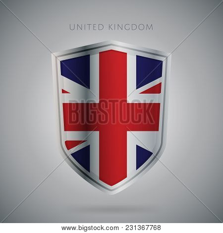Flags Europe Vector Icon. United Kingdom Flag, Isolated. Modern Design. National Country Flag. Count