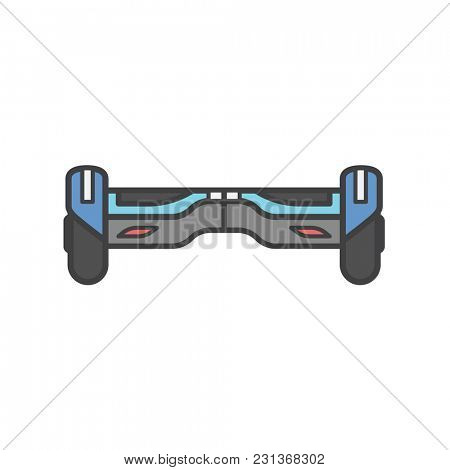 Illustration of electric scooter