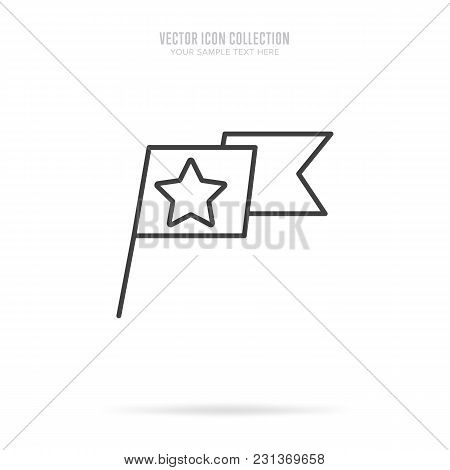 Awar Icon Vector Isolated On White Background. Linear Style.