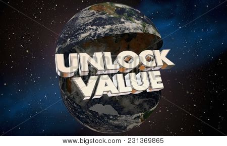 Unlock Value Open Earth Benefits Valuable 3d Illustration - Elements of this image furnished by NASA