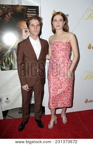 LOS ANGELES - MAR 13:  Max Winkler, Zoey Deutch at the
