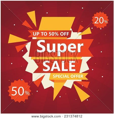Super Sale Up To 50% 20% Off Special Offer Vector Image