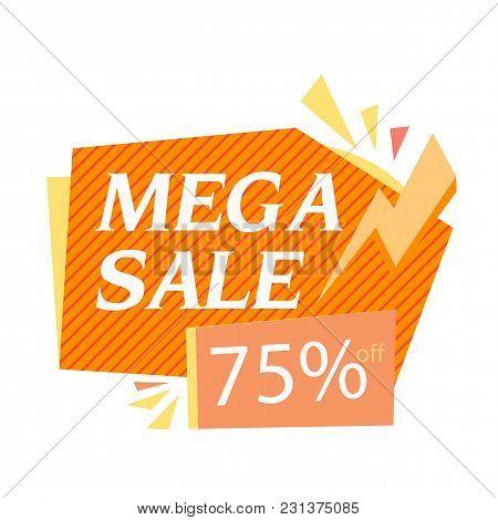 Mega Sale75% Off Bolt Background Vector Image