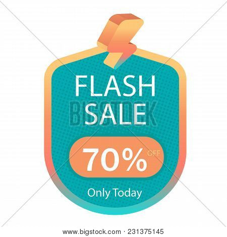 Flash Sale 70% Off Only Today Vector Image