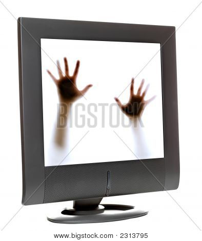 Trapped Inside A Computer Monitor