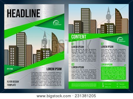 Vector Flyer, Corporate Business, Annual Report, Brochure Design And Cover Presentation With Metal T