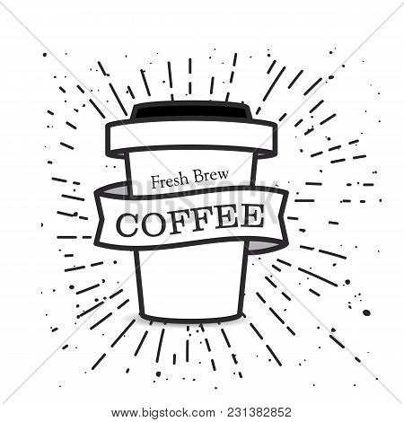 Fresh Brew Coffee Cup Background Vector Image