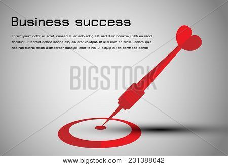Abstract Business Dart Red To Goal Center Business Background
