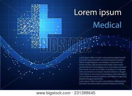 Abstract Health Science Health Plus Digital Technology  Modern Medical Technology On Hi Tech Future