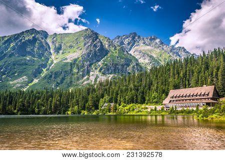 Popradske Pleso - Mountain Lake Located In The High Tatras, Slovakia.