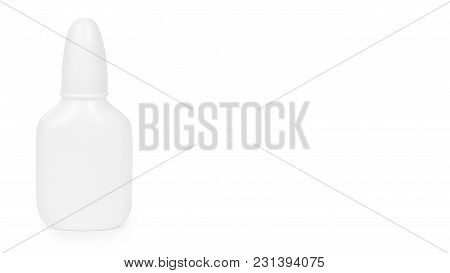 Medicine Dropper Bottle Isolated On White Background. Copy Space, Template.