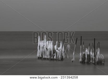Winter - Ice On Edge Of The Winter Sea
