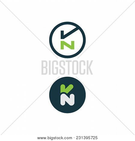Best Simple Vector Letter Creative Kn Vector Design, Abstract Business Vector Design Template. Vecto