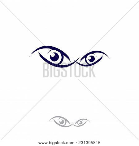 Eyes Logo Vector Template Circle Vision Logotype Concept. Optic And Eye Lens Design Vector. Minimali