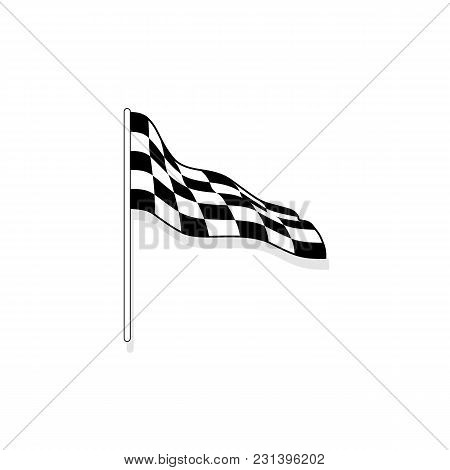 Finish Flag Icon. Checkered Finish Sign Illustration