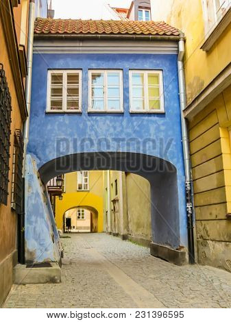 Warsaw Postcard. The Ancient Houses Restored In The Old Town Or Stare Miasto. Warsaw, Poland