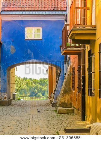 Warsaw Postcard. The Ancient Houses Restored In The Old Town Or Stare Miasto. Warsaw, Poland.