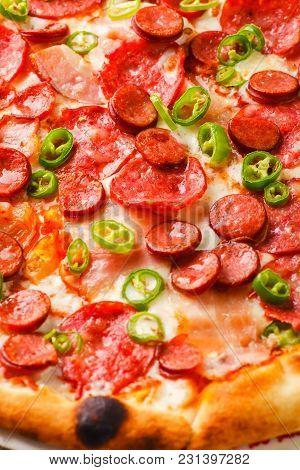 Pizza Macro Close Up Shot