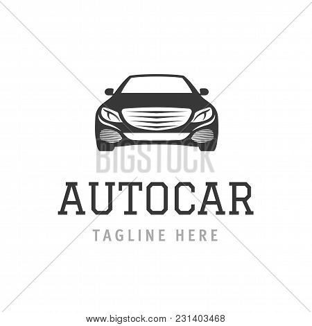 Logo Autocar Concept. Design Of Sports Vehicle Company Sign Silhouette. Creative Vector Illustration