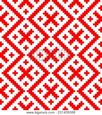 Seamless Pattern Based On Russian Folk Ornament.disabling Layer, You Can Obtain Seamless Pattern.sch