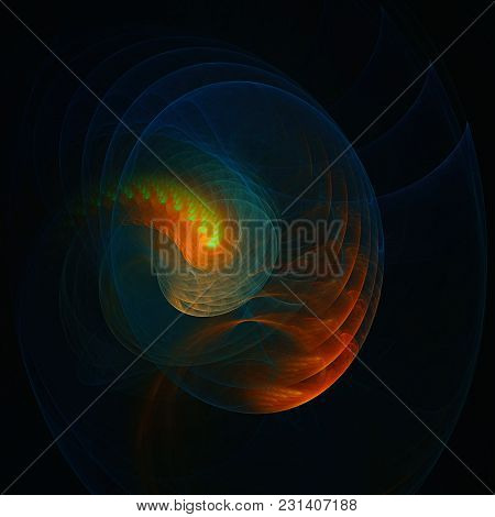 3d Surreal Illustration. Sacred Geometry. Mysterious Psychedelic Relaxation Pattern. Fractal Abstrac