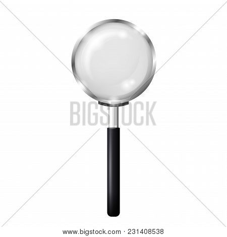 A Magnifying Glass. Ralistic Vector Illustration Isolated On The White Background