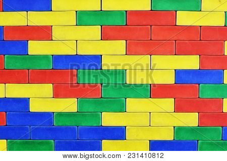 Colored Blocks As Wall Or Arhitectural Background