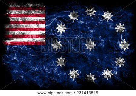 Easton City Smoke Flag, Pennsylvania State, United States Of America