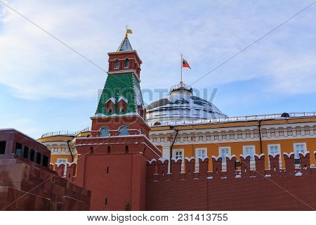 Building Of Moscow Kremlin. View From Red Square