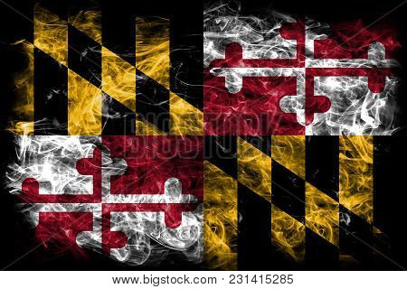 Maryland State Smoke Flag, United States Of America
