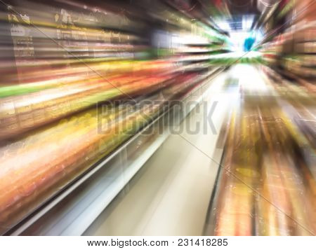 Abstract Radial Blur Image - Many Goods In The Shop