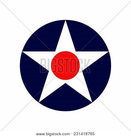 Vintage Air Force Roundel Isolated On White