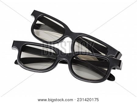 3d Glasses Close-up On White Isolated Background