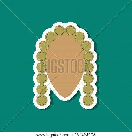 Paper Sticker On Stylish Background Of Judge