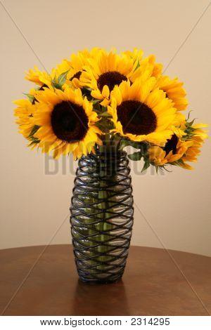 Sunflowers In An Interesting Vase
