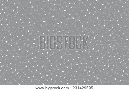 Geometric Abstract Background With Connected Line And Dots. Modern Stylish Polygonal Backdrop For Yo