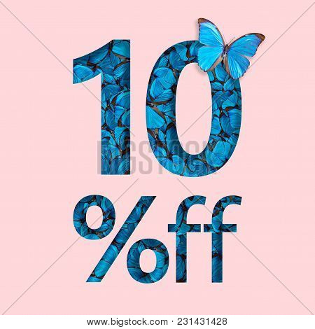 10% Discount Sale Promotion. The Concept Of Stylish Poster, Banner, Ads.