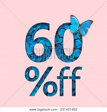 60% Discount Sale Promotion. The Concept Of Stylish Poster, Banner, Ads.