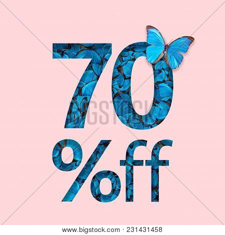 70% Discount Sale Promotion. The Concept Of Stylish Poster, Banner, Ads.