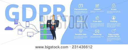 Gdpr Concept Illustration. General Data Protection Regulation. The Protection Of Personal Data. Serv