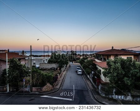 The Streets Of A Village In Sardinia