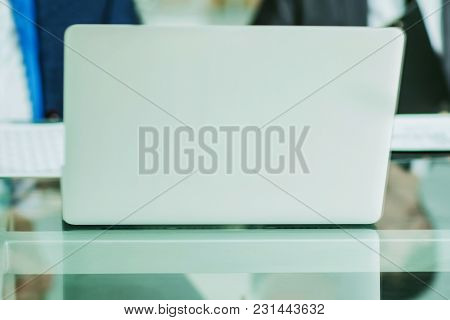 Closeup - Desk Of A Businessman.the Photo Has A Empty Space For Your Text