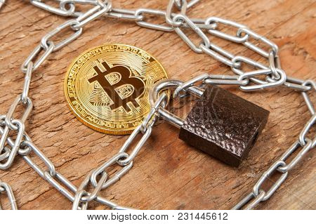 Restriction Of Bitcoin Growth, Prohibition Of Use In The Country. The Coin Is Wrapped Around The Cha